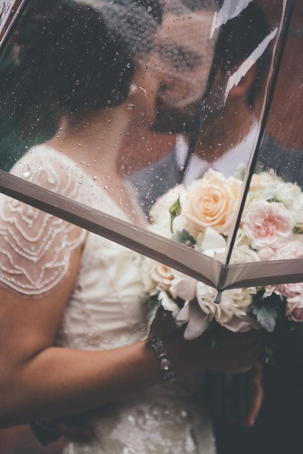 { Dzesika } Devic Fotos » Jenna + Eric | Wedding #reflection #distillery #district #window #photography #style #me #pretty #couple #love #vintage #gatsby #inspiration #archeo #bride #groom #toronto #umbrella #rain #kiss