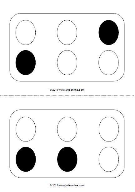 Eieren naleggen zwart-wit. Visuele activiteit voor kleuters bij het thema Pasen.