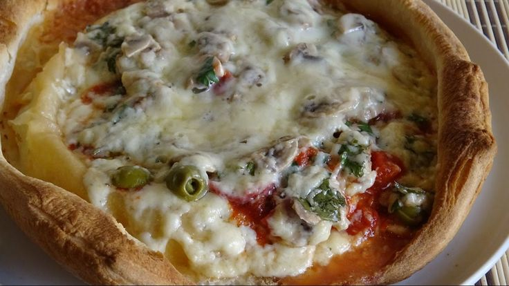 Пицца-пирог (pizza-pie) - самая быстрая и самая вкусная пицца.