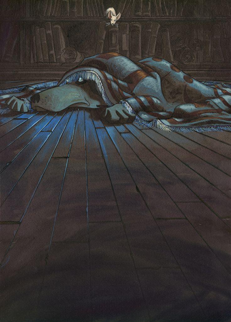 'Satán'. Tinta de color y gouache sobre cartulina. 500€ David Belmonte ©