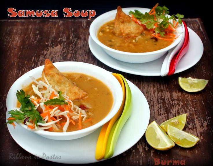Ribbon's to Pasta's: Samusa Thouk - A Burmese Street Food