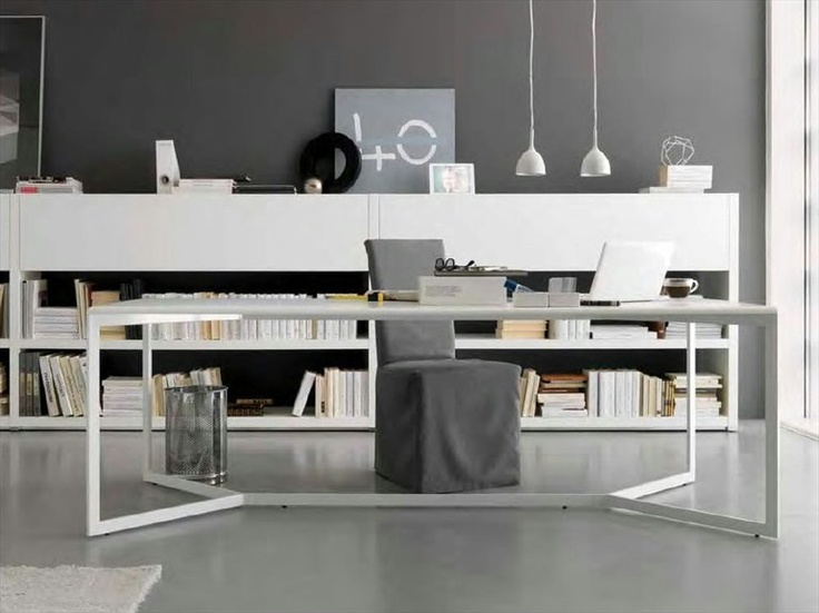 Workplace Rectangular Metal Table LINE by Olivieri | Design Enrico Cesana