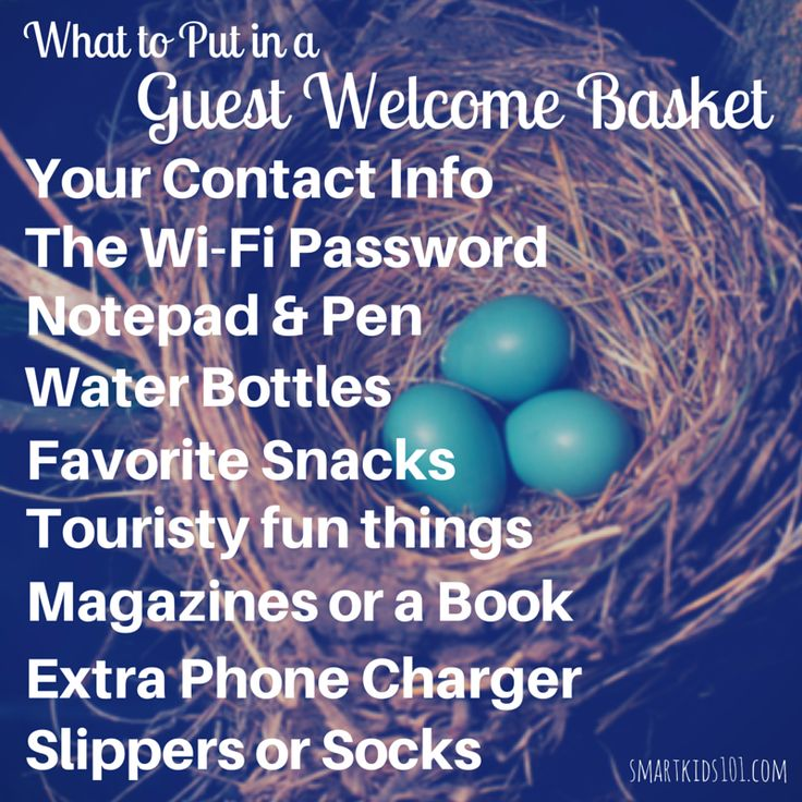What to put in a guest welcome basket when entertaining guests. How to be a gracious host or hostess!