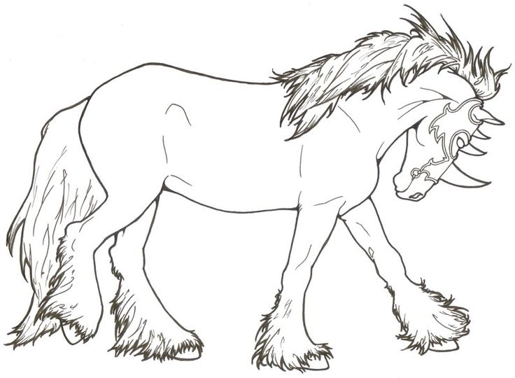 Medieval Mount By ReQuay Find This Pin And More On Coloring Pages Horses Carousel