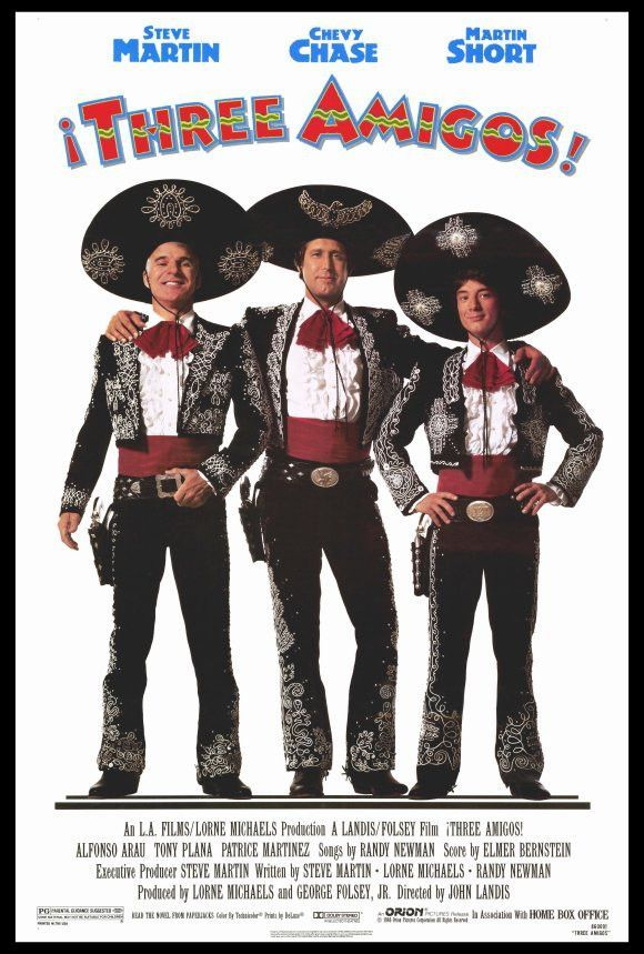 Lee doesn't consider himself a movie critic but he does LOVE a wide range of specific movies ;). Three Amigos has been his consistent favorite over the years and he has a huge poster like this in his movie basement.