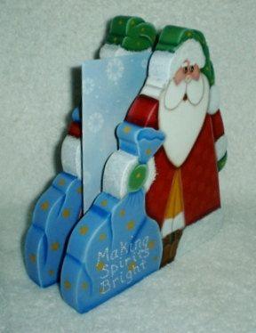 Santa Claus Bookends Christmas Crafts Wooden Bookends por giftshop1