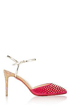 Balia Spike Suede Ankle-Strap Sandals