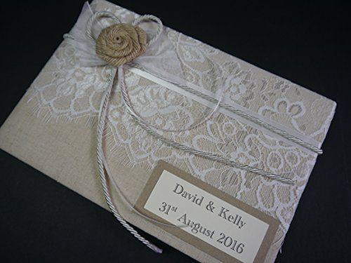 Wedding Guest Book, Vintage, Hessian Flower With Lace & R... https://www.amazon.co.uk/dp/B01K1NMQRK/ref=cm_sw_r_pi_dp_x_Idp7xbH4EVC70
