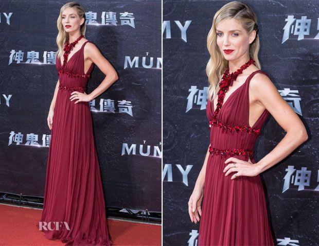 Annabelle Wallis In Miu Miu – 'The Mummy' Taiwan Premiere 2017