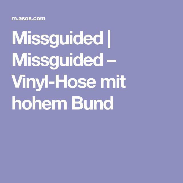 Missguided | Missguided – Vinyl-Hose mit hohem Bund