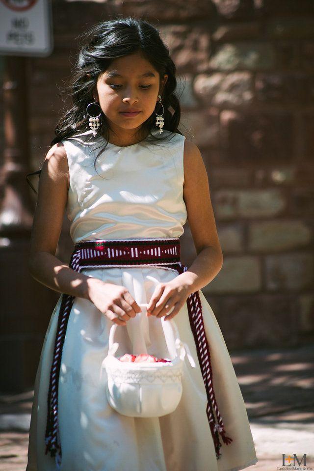 Navajo Wedding Flower Girl, LeahAndMark.com