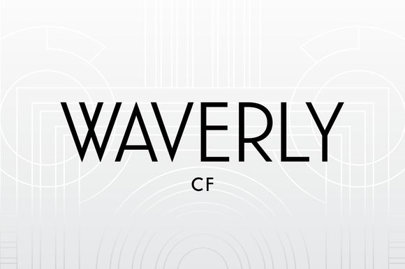 Waverly CF Art Deco Sans-Serif Font by Connary Fagen Typography on Creative Market