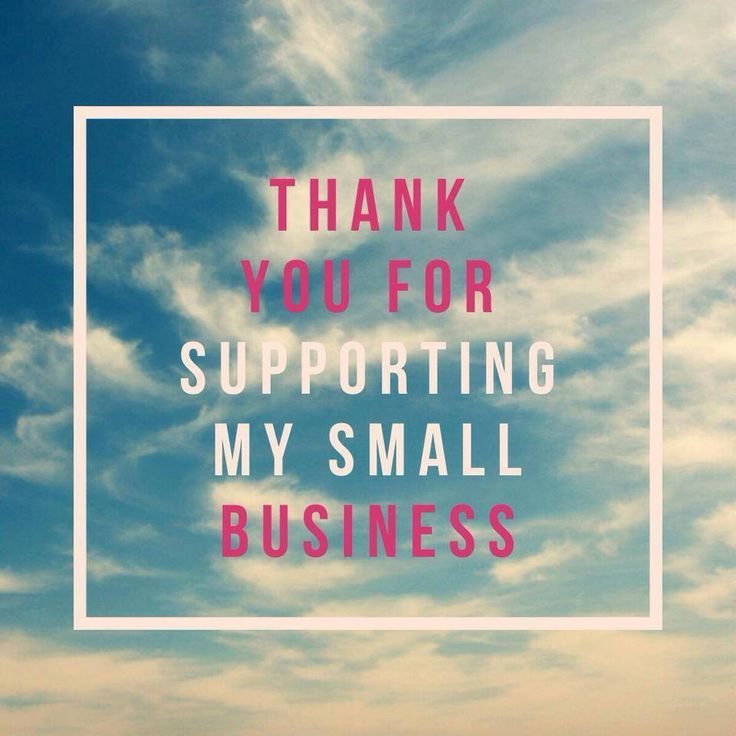 Thank-you for supporting my small business