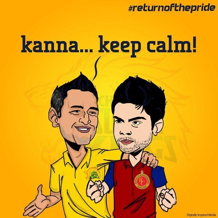 IPL Campaign- #whistlepodu #returnofthepride #csk #RCB #IPL7 #Kohli