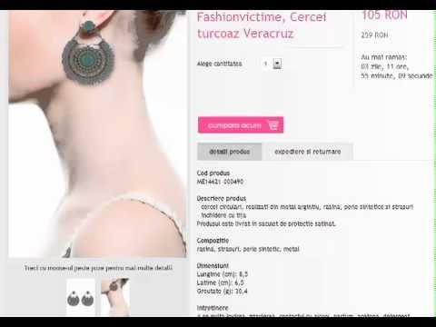 Cercei din argint cu cristale Swarovski, perle artificiale - Bijuterii de argint Fashionvictime