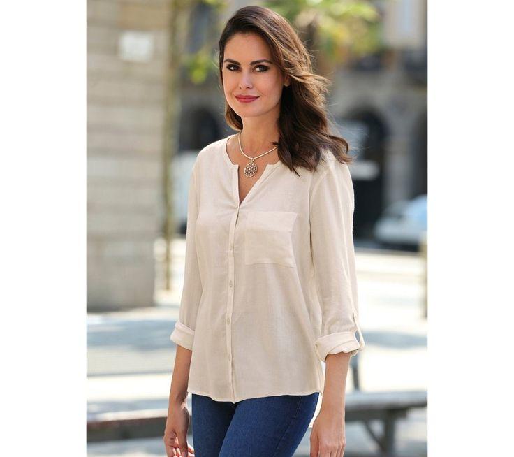 Košeľa s dlhými nastaviteľnými rukávmi | modino.sk #ModinoSK #modino_sk #modino_style #style #fashion #bluzka #tunika #kosela