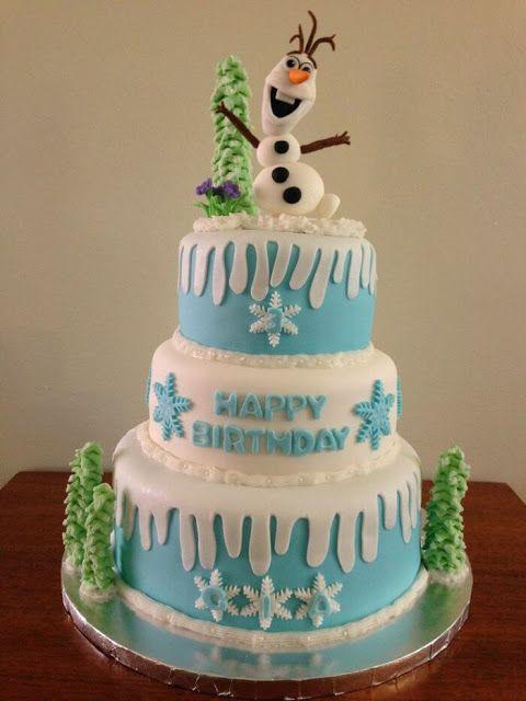 Karlar Ülkesi (Frozen) Temalı Butik Pastalar - Neşeli Süs Evim - Ücretsiz Doğum Günü Süsleri