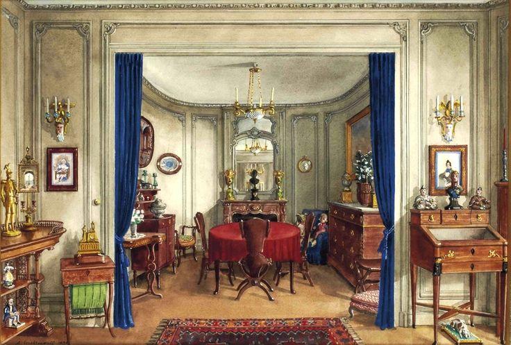 Серебряков Александр Борисович.La salle à manger de l'appartement d'Alexandre Popoff à Paris