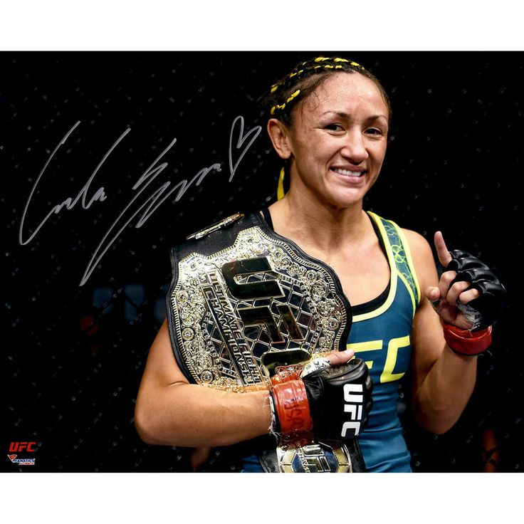 Carla Esparza Ultimate Fighting Championship Fanatics Authentic Autographed 16'' x 20'' Holding Championship Belt Photograph
