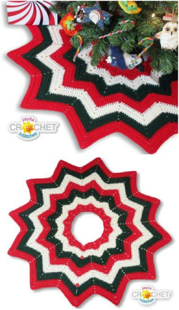 Gorgeous Crochet Granny Square Tree Skirt Pattern Crochet
