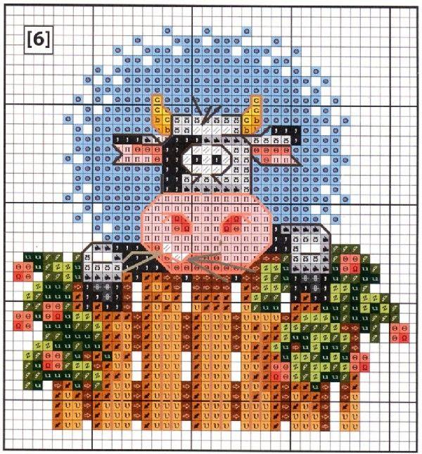vaquinha-na-cerca-ponto-cruz.jpg (600×645)