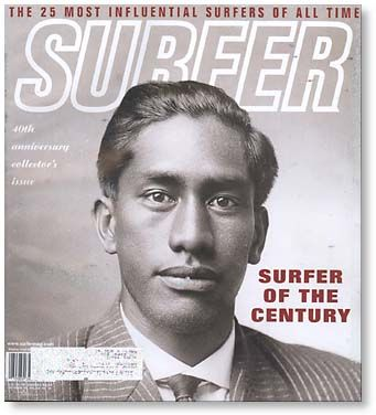 This is very cool! Duke Kahanamoku on the cover of Surfer Magazine!