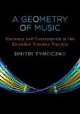A geometry of music // Tymoczko's revolutionary geometrical approach to music theory. The book shows how to construct simple diagrams representing relationships among familiar chords and scales, giving readers the tools to translate between the musical and visual realms and revealing surprising degrees of structure in otherwise hard-to-understand pieces.