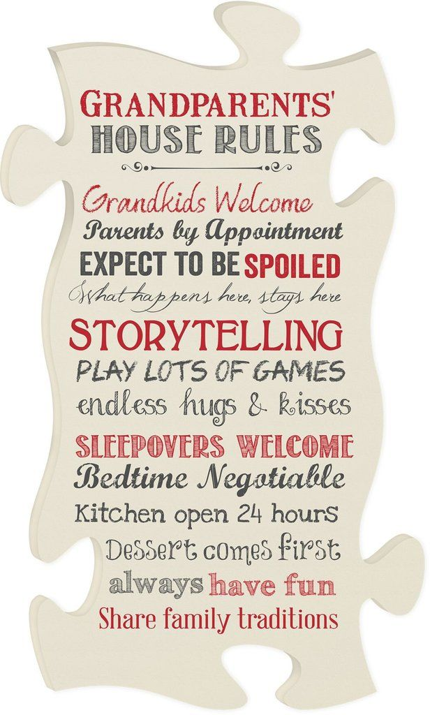 """As a grandparent, you can finally let loose and have fun with your """"kids"""". These rules are set-in-stone as you live life through your little blessings. Measure"""