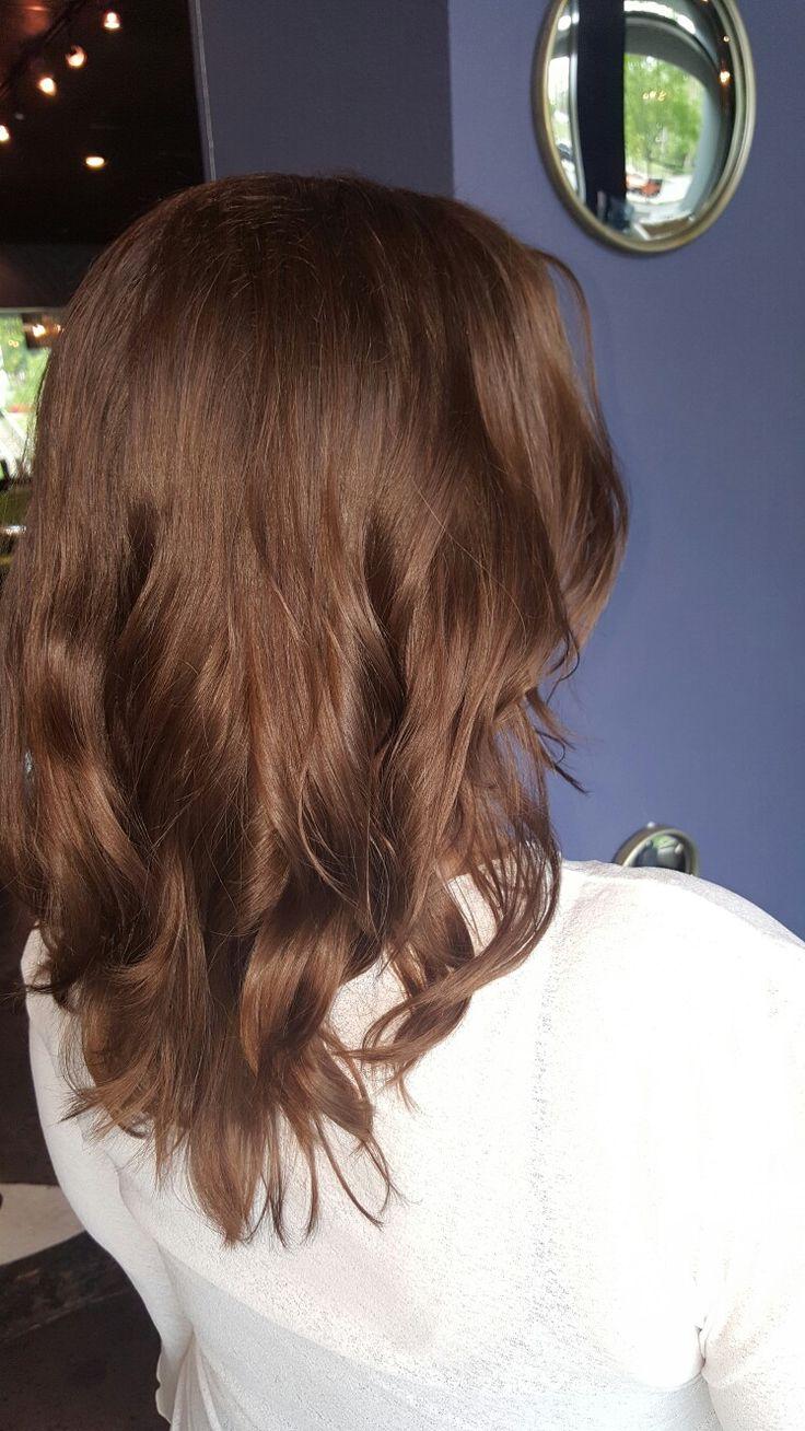 Redken Shades Eq 8wg & 7nb Chestnut golden brown #hairstylist #haircolor