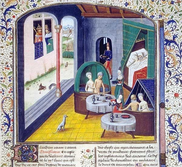 Bath House The Book Of Valerius Maximus BNF Arsenal 5196 Fol 372