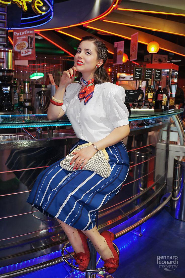 Girl in 60's style