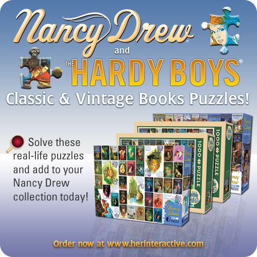 Solve a real-life Nancy Drew or Hardy Boys puzzle! Shop now at herinteractive.com and add to your collection!  #NancyDrew #Puzzles #HeRInteractive