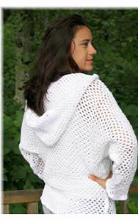 Hooded Weekend Sweatshirt/Cover Up via Craftsy