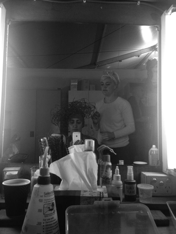Lena Kasparian at hair and makeup on the set of Mad Max Fury Road #lenakasparian