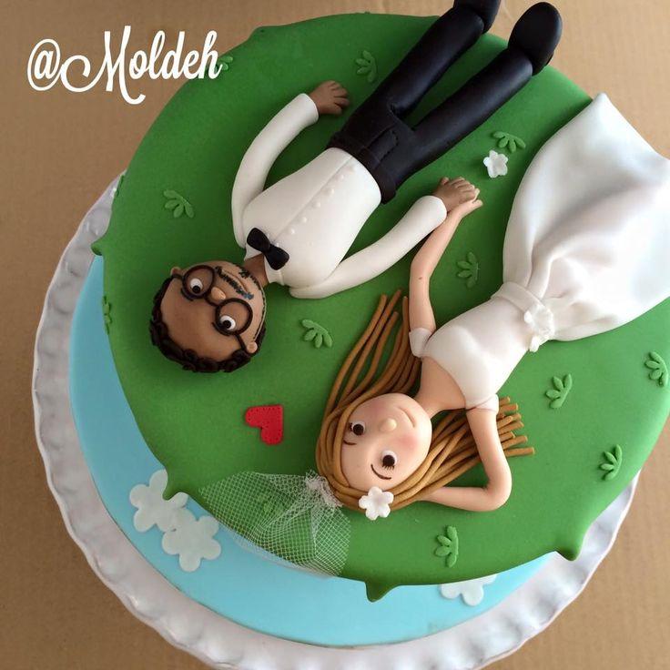 Pastel de Boda inspirado en la pareja de UP // UP movie couple inspired wedding cake