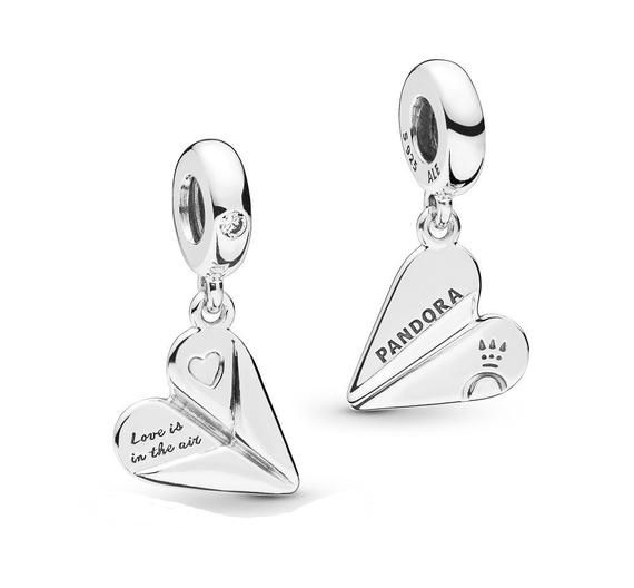 a29779a3b Pandora, Heart, PAPER AIRPLANE, Bracelet Charm, Love Is In The Air, Silver,  Creative, Clear Cz, 925 ALE, Spring 2019, 797876CZ #925Ale #Creative ...