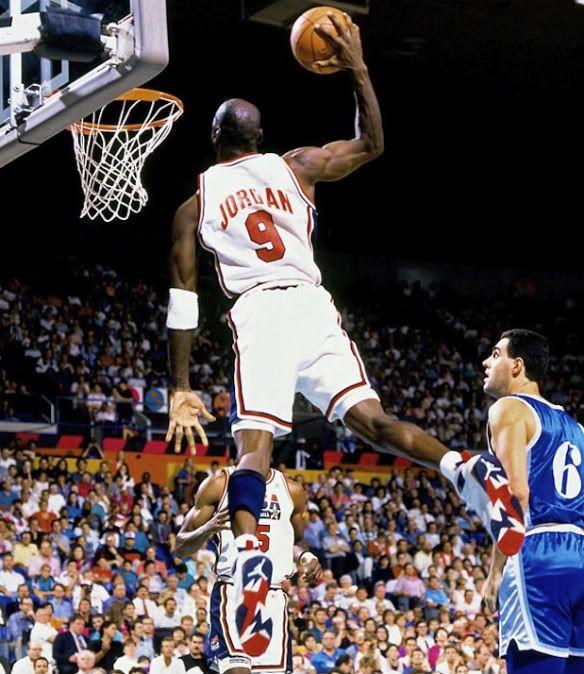 7.18.12 | Michael Jordan dunks in Olympic 7s at 1992 Barcelona Olympic Games