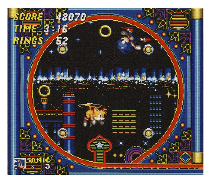 Sonic the Hedgehog 2, 2016, 198x167cm, double cross stitch needle point, wool #perfhager #steneprojects #contemporaryart #gaming #craft #needlepoint #embroidery #handmade #crossstitch #sega #sonicteam #16bit #sonic #sonic2 #ソニック #現代美術 #美術 #アート #ゲーム #クラフト #刺繍 #ハンドメイド #クロスステッチ