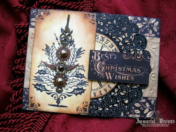 97 Best STEAMPUNK CHRISTMAS CARDS Images On Pinterest
