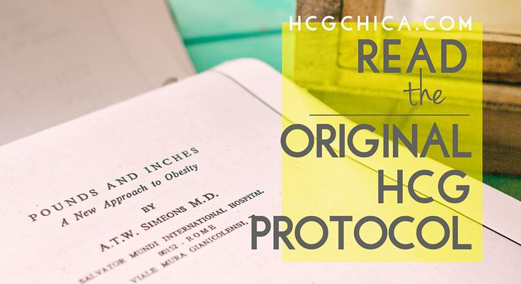 Pounds and Inches - Dr. Simeons Original hCG Diet Protocol Manuscript- Free Download - hcgchica.com