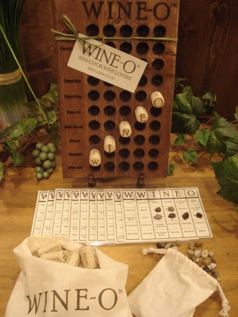 Like Bingo? Like wine? Wine games make great gifts for the wine enthusiast.  Wine-O ® Bingo for Wine Lovers is a fun, easy to play, wine bingo game. What a fun game to play at your next wine tasting party!