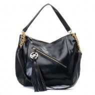 Michael Kors Charm Tassel Convertible Shoulder Bag Black $79.00 http://www.newperfectstyle.com/