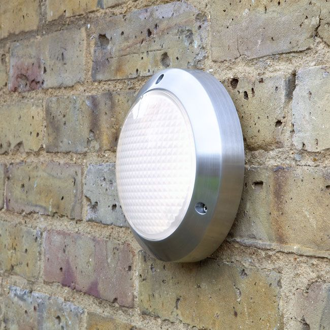 Outdoor Lighting Toronto: Toronto Classic 170 40W Outdoor Round Light Fitting in Polished Aluminium  for Wall/Ceiling,Lighting