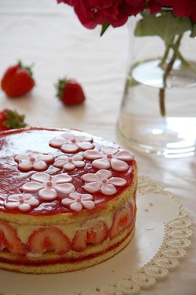 Fraisier (in French) by Gourmandiseries