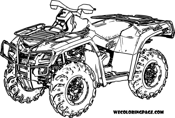4 wheeler coloring pages  coloring pages bike drawing