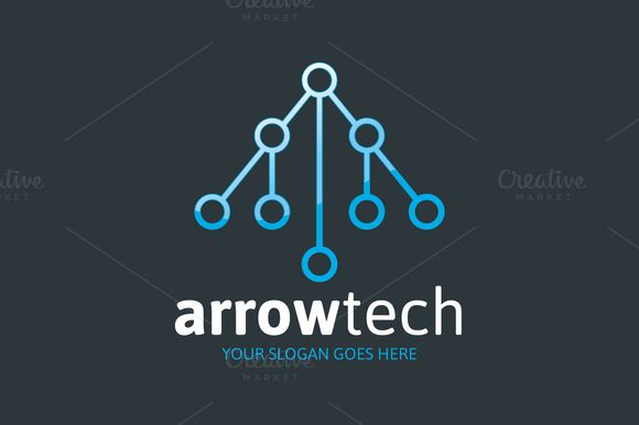 Arrow Tech Logo - Letter A by mljstudios on @creativemarket