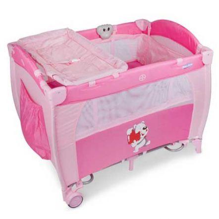 Berço Balanço Soneca Prime Baby com Função Vibratória, Musical e Luz Noturna Rosa