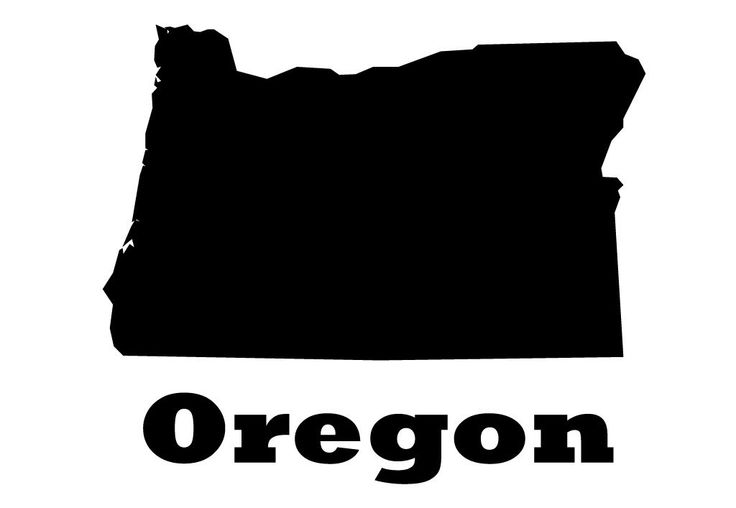Oregon State Vinyl Wall Decal Map Silhouette Decoration