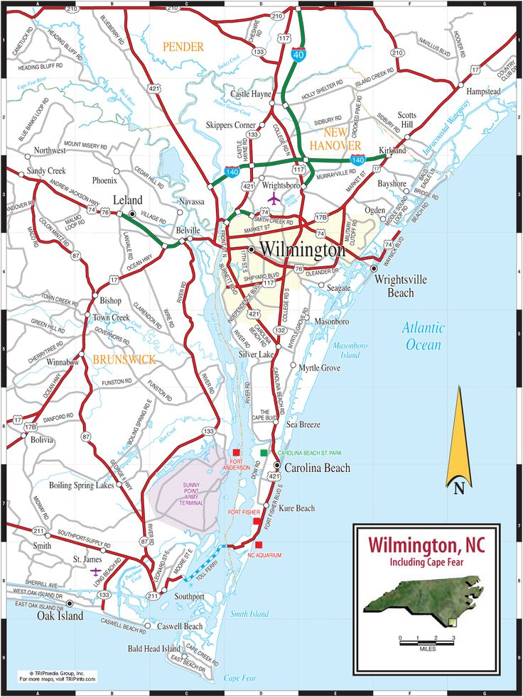Map Of Wilmington Nc Google Search
