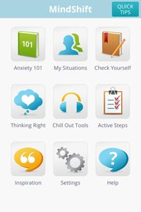 MindShift - iOS & Android - helps with different types of anxiety, how we approach it, etc (for teens & young adults)